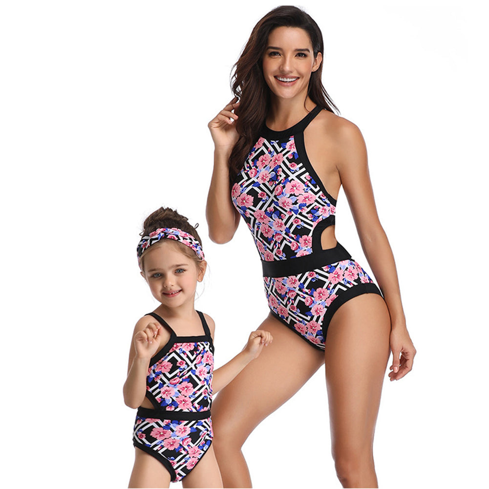 Hollow Out One Piece Swimwear - Itopfox