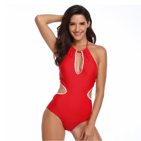 Halter Hollow Out One Piece - Itopfox