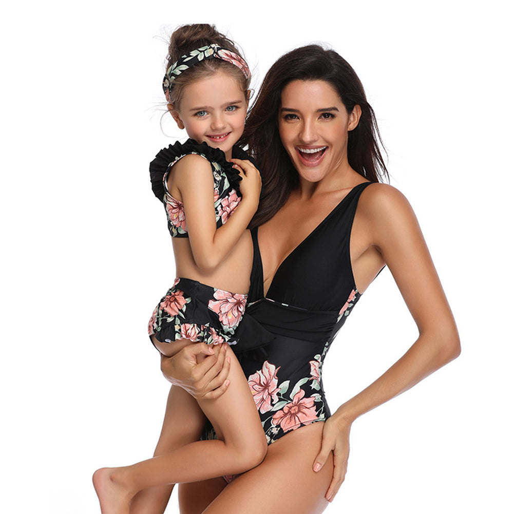 Floral One Piece Bathing Suit - Itopfox