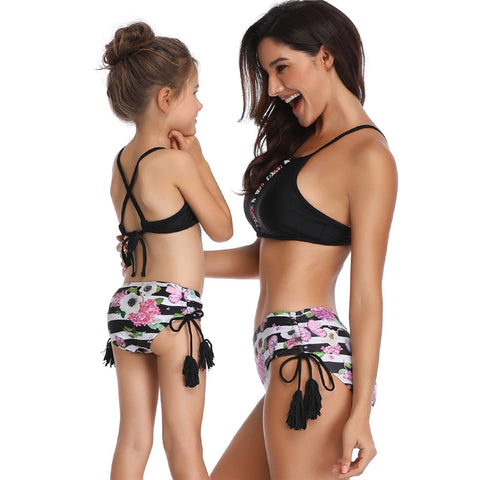 Cross Back Two Piece Bikini Set - Itopfox