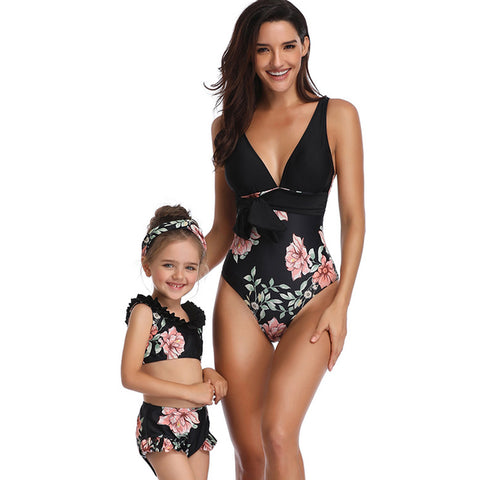 Image of Floral One Piece Bathing Suit - Itopfox
