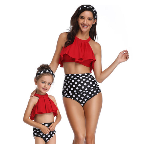 Falbala High Waisted Bikini Set - Itopfox