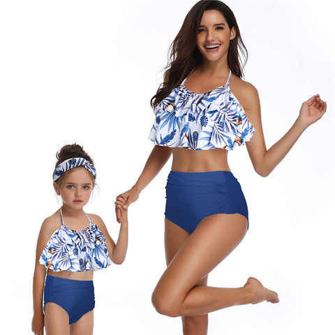 Falbala Halter Two Pieces Bikini Set - Itopfox