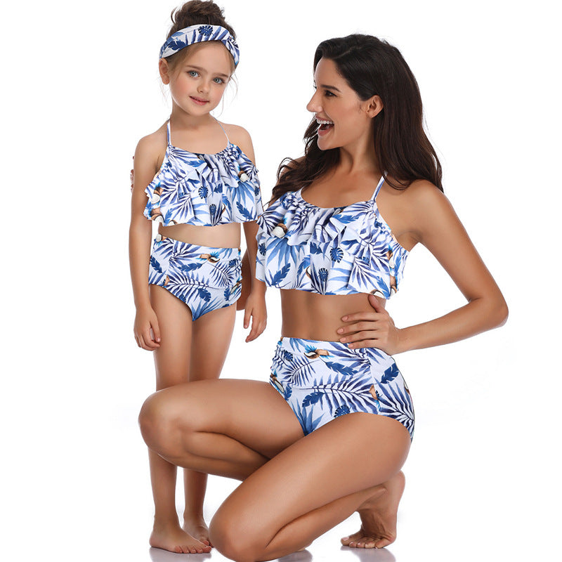 High Waist Two Piece Swimwear - Itopfox