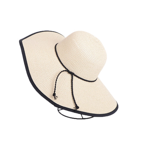 Foldable Big Brim Straw Sunhat - Itopfox