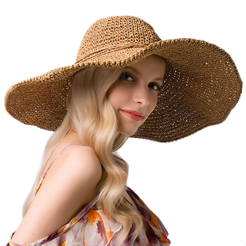 Image of Wide Brim Floppy Beach Sunhat - Itopfox