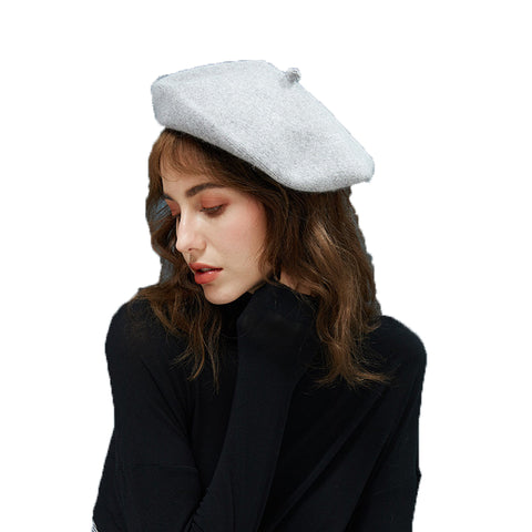 Image of Beret Hat With Starry Pearl - Itopfox