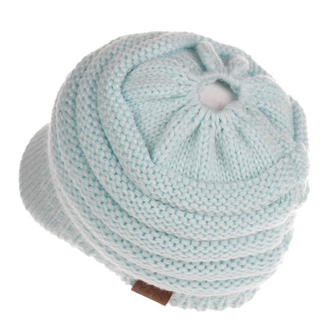 Chunky Cable Knit Skullies Beanie (With CC Label) - Itopfox