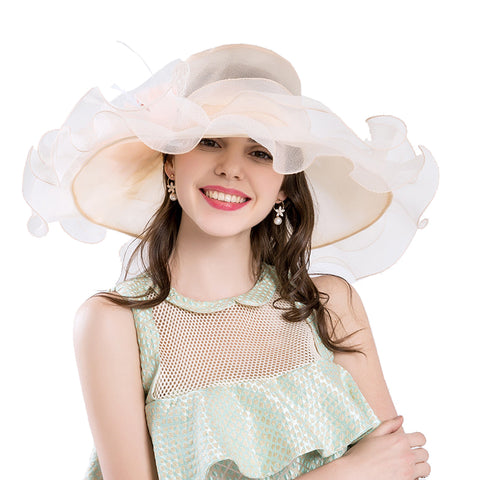 Image of Gauze Kentucky Derby Hat Wedding Fascinator - Itopfox