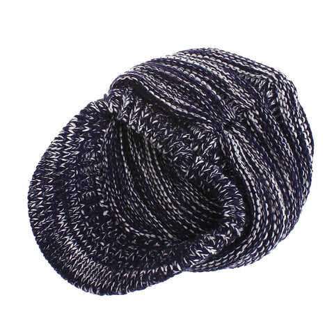Image of Cable Knit Chunky Skully Beanie Hat - Itopfox