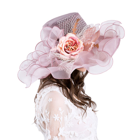 Gauze Kentucky Derby Hat Wedding Fascinator - Itopfox