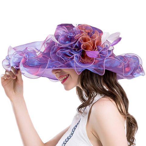 Organza Kentucky Derby Hat Tea Party Fascinator - Itopfox