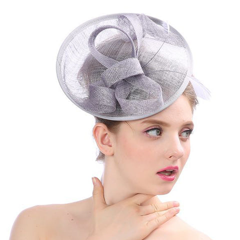 Image of Pill Hat Fascinator Wedding Headwear - Itopfox