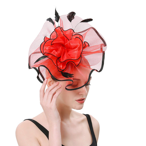 Image of Bridal  Cocktail Fascinators Derby Hat - Itopfox