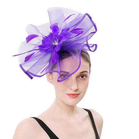 Flax Net Face Veil Fascinator Hat - Itopfox