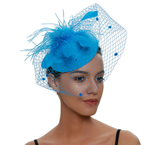 Image of Veil Fascinator For Banquet - Itopfox