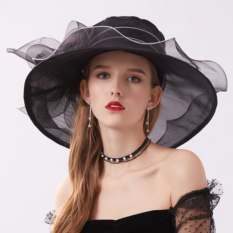 Image of Wide Brim Tea Party Kentucky Derby Hats