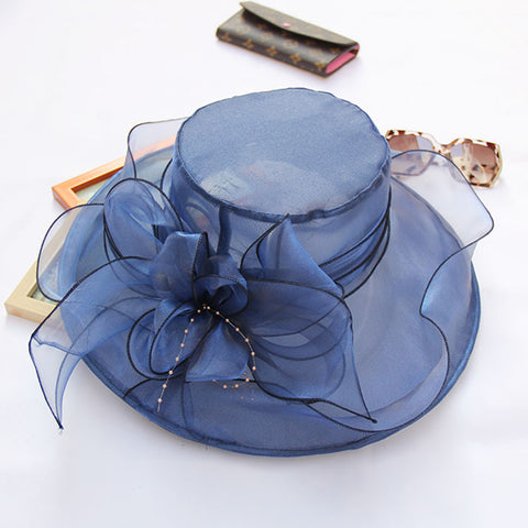 Image of Wide Brim Tea Party Kentucky Derby Hats - Itopfox