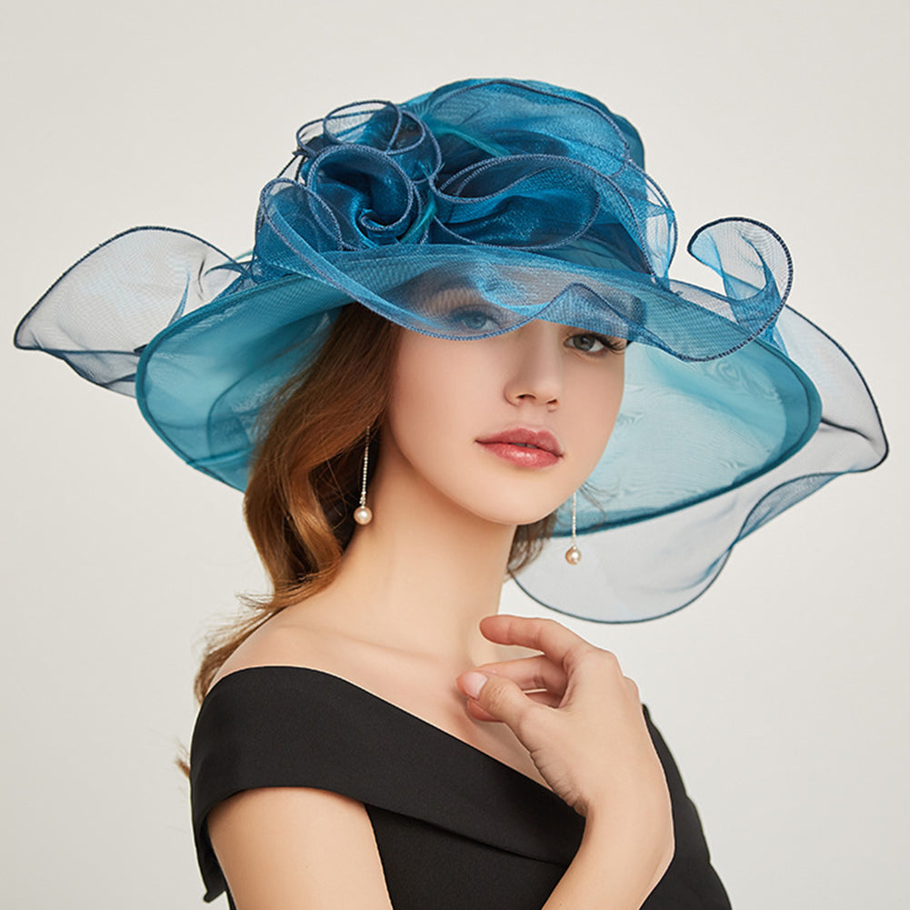Organza Kentucky Derby Hat Fascinator - Itopfox