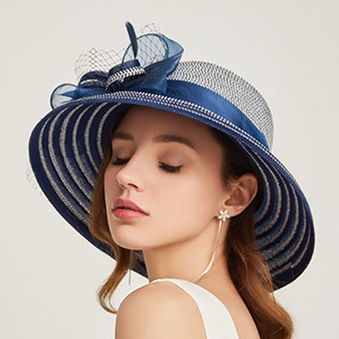 Image of Organza Kentucky Derby Cloche Sunhat - Itopfox