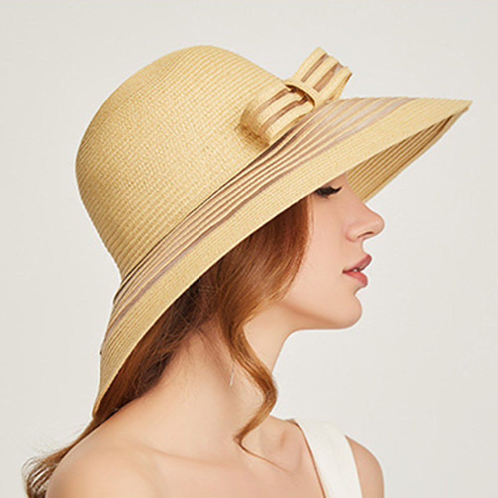 Foldable Floppy Beach Cloche Hat - Itopfox