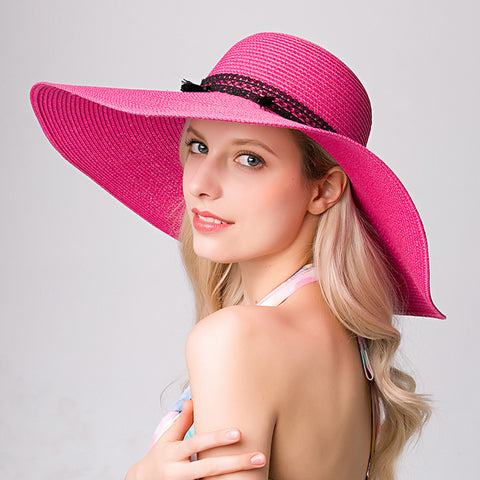 Wide Brim Floppy Sun Hat - Itopfox