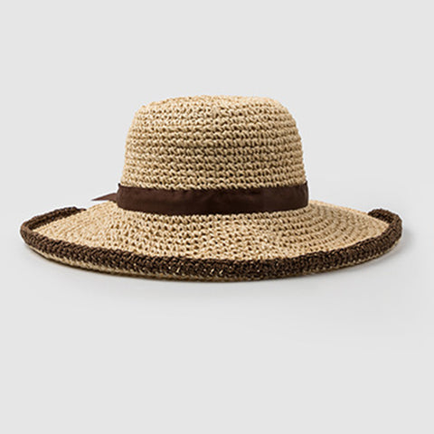 Image of Big Brim Foldable Straw Sun Hat - Itopfox