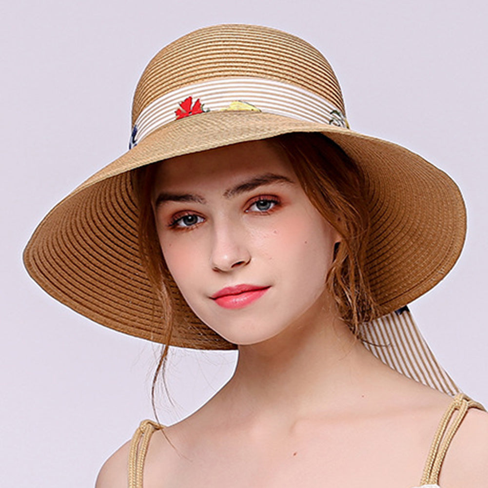Wide Brim Beach Sun Hat - Itopfox
