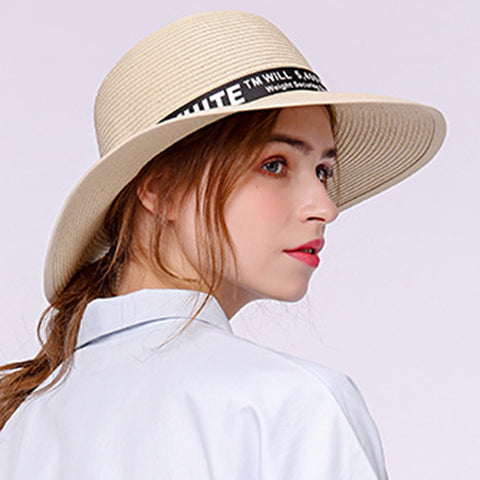 Image of Embroidered Beach Sunhat Fedoras - Itopfox