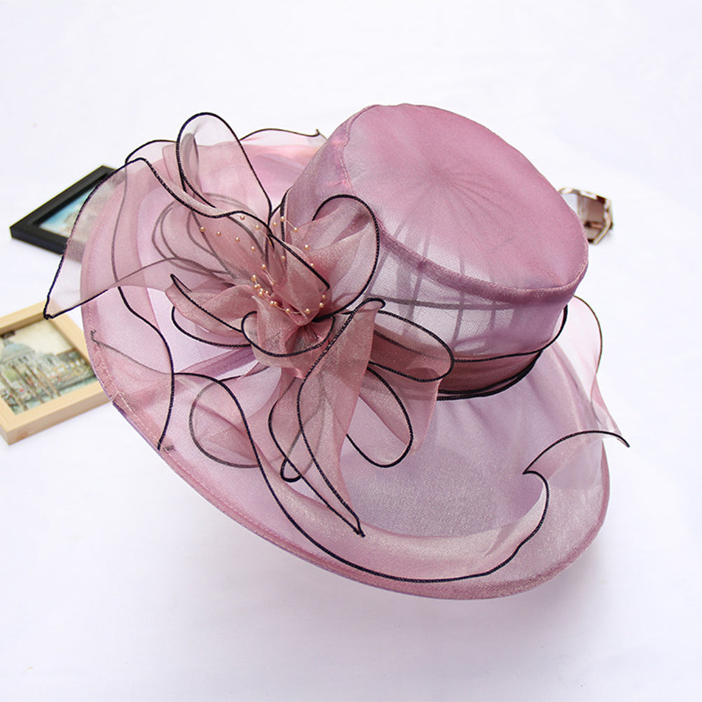 Wide Brim Tea Party Kentucky Derby Hats - Itopfox