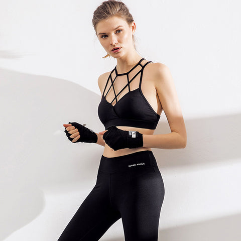 Cross Back Wirefree Fitness Yoga Top - Itopfox