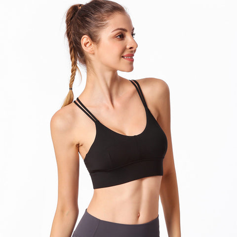 Strappy Sports Bra Yoga Top - Itopfox
