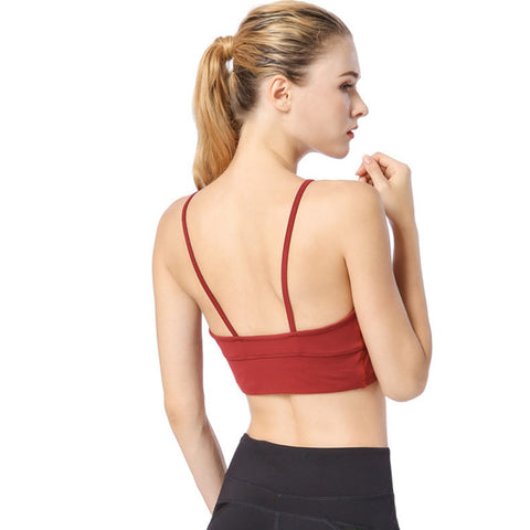 Light Support Yoga Sports Bra - Itopfox