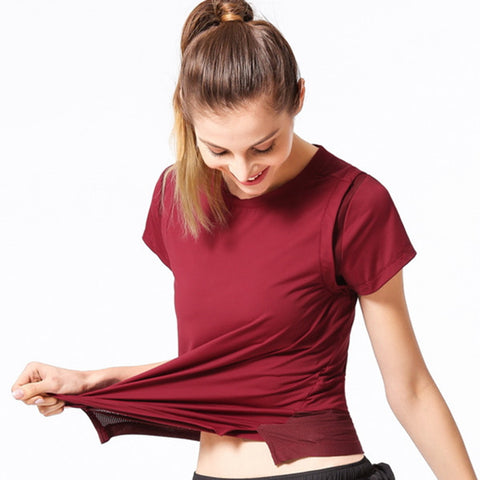 Workout Shirts Yoga Tops - Itopfox