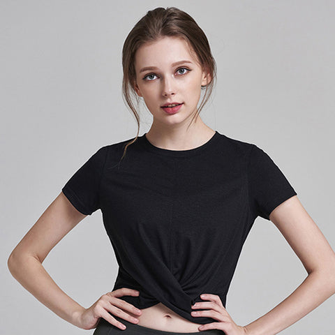 Image of Short Sleeve Top Gym Clothes - Itopfox