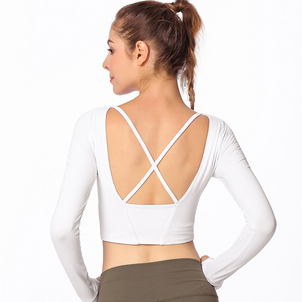 Yoga Cross Back Tee - Itopfox