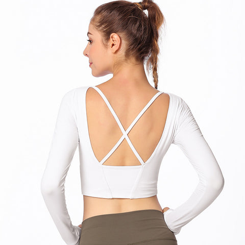 Image of Yoga Cross Back Tee - Itopfox