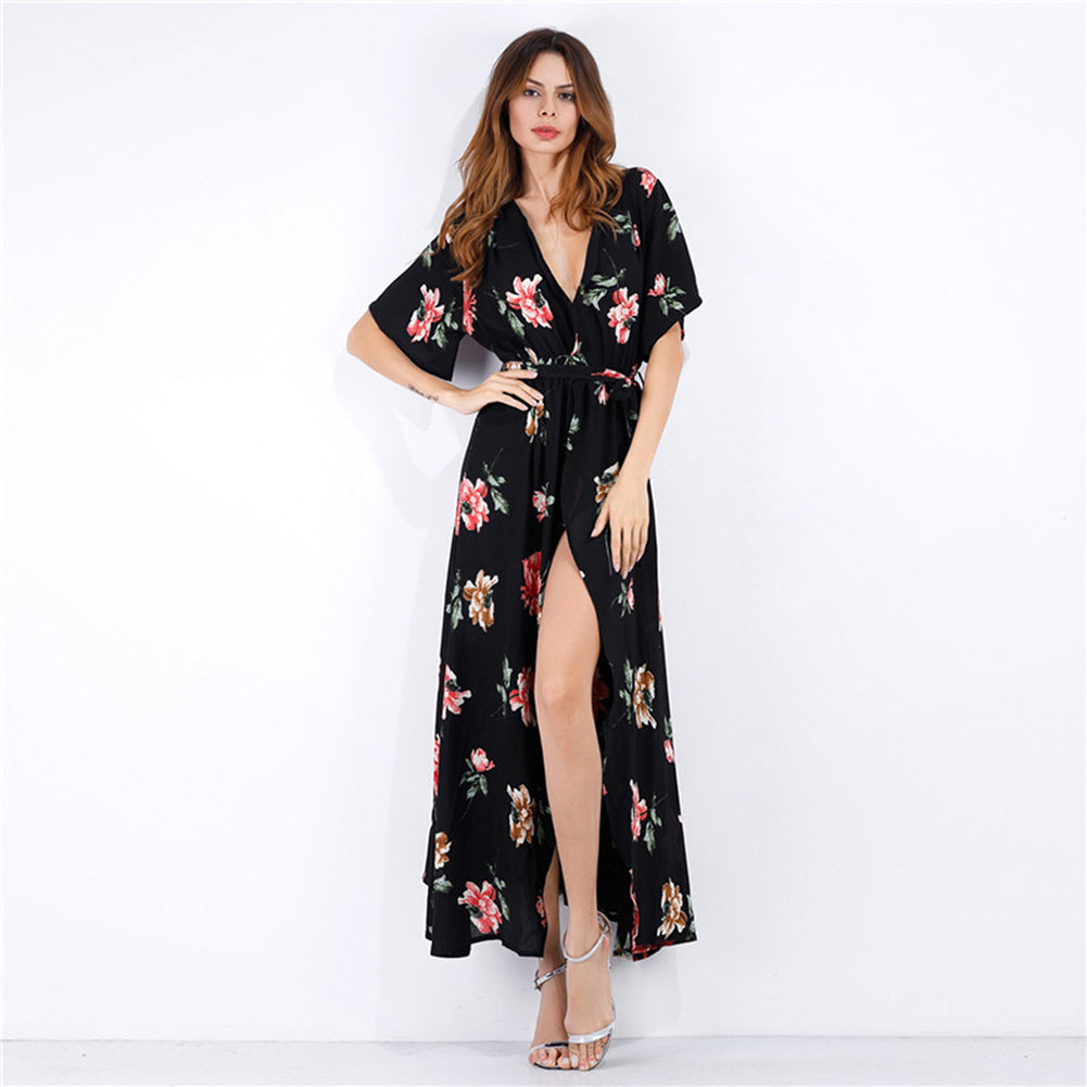 Chiffon Beachwear Maxi Dress - Itopfox