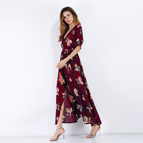 Image of Chiffon Beachwear Maxi Dress - Itopfox