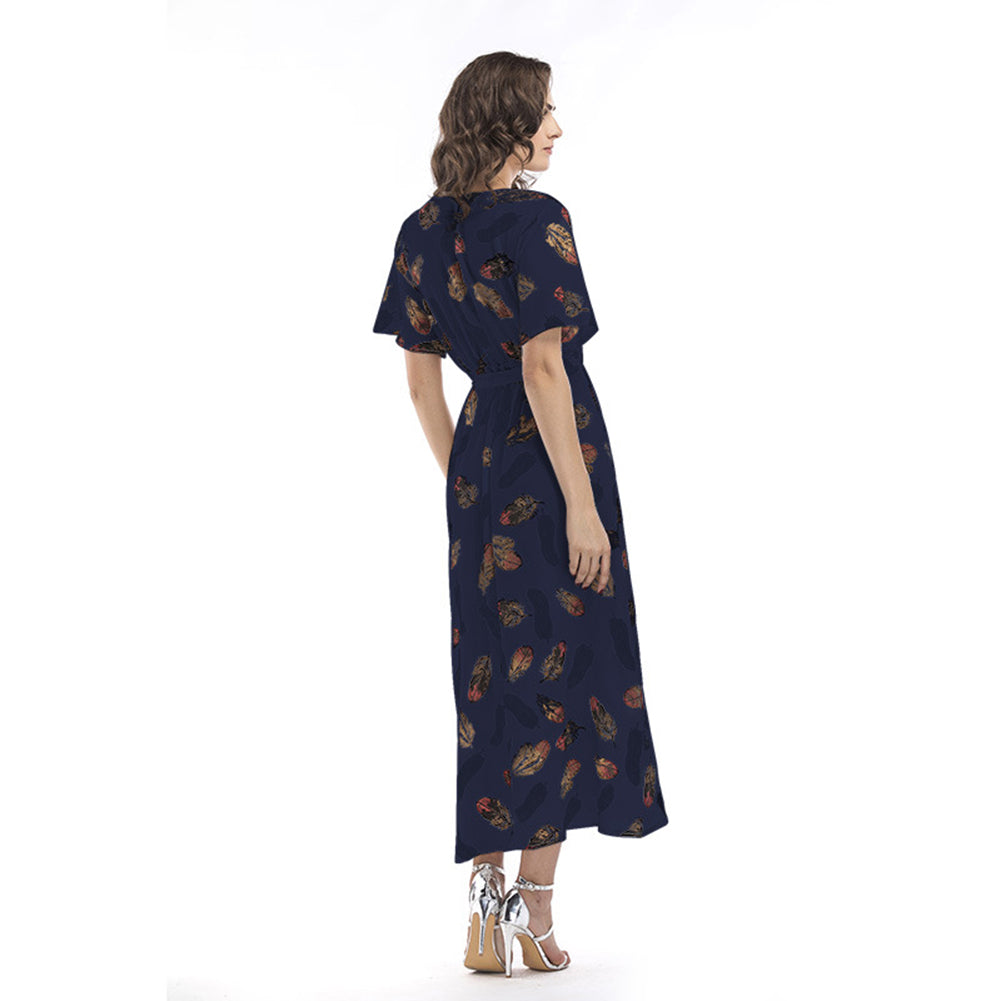 Tunic Maxi Chiffon Dress - Itopfox