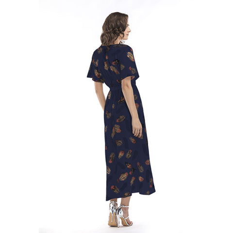 Image of Tunic Maxi Chiffon Dress - Itopfox