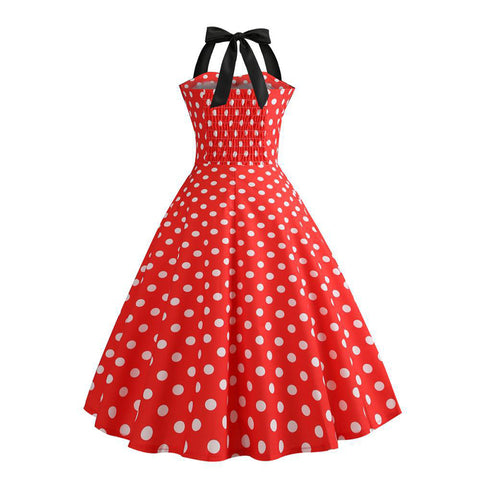 Image of Halter 50s Retro Tea Party Dress - Itopfox