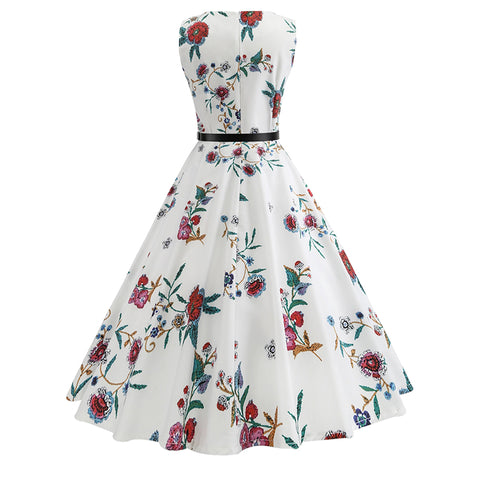 50s Hepburn Tea Party Dress - Itopfox