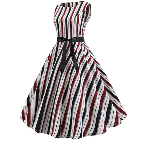 50s Hepburn Retro Cocktail Dress - Itopfox