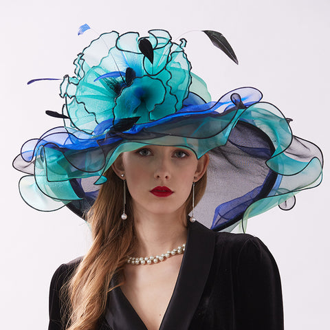 Image of Organza Church Tea Party Hat - Itopfox