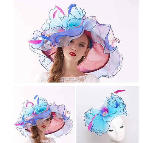 Organza Church Tea Party Hat - Itopfox