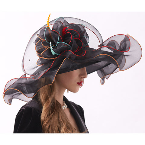 Image of Organza Tea Party Kentucky Derby Hat - Itopfox