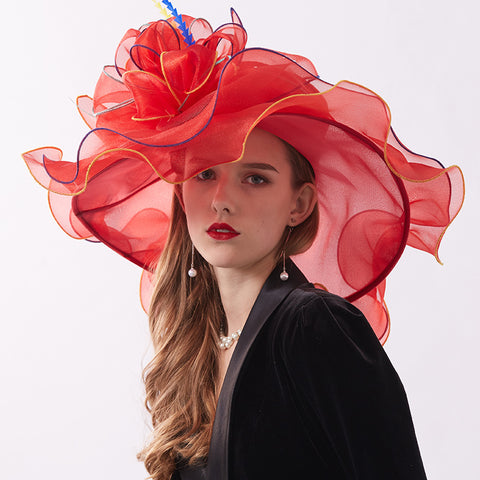 Organza Tea Party Kentucky Derby Hat - Itopfox