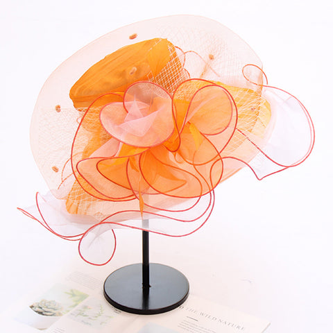 Tea Party Church Organza Hat