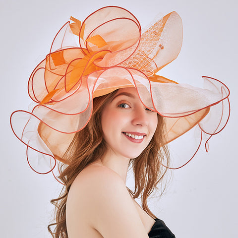 Image of Tea Party Church Organza Hat
